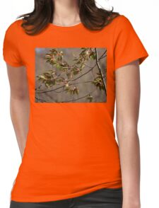 Green leaves bustin' out Womens Fitted T-Shirt