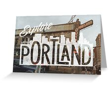 Explore Portland Greeting Card