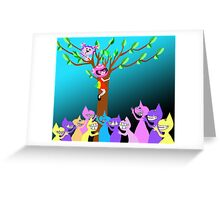 Spaceship Betty is Up a Tree with her best friend Bubblegum Greeting Card