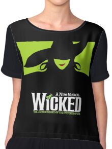 Wicked Broadway Musical - Untold Story about Wizard Of Oz - T-Shirt Chiffon Top