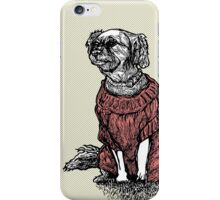 """Sassy"" (Small Dog in her Red Sweater) iPhone Case/Skin"