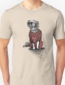 """Sassy"" (Small Dog in her Red Sweater) Unisex T-Shirt"