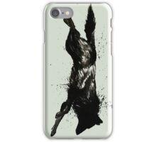 Black Wolf Running iPhone Case/Skin