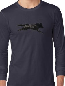 Black Wolf Running Long Sleeve T-Shirt