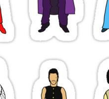 Outfits of Prince Fashion on White Sticker