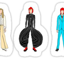 Outfits of Bowie Fashion Sticker