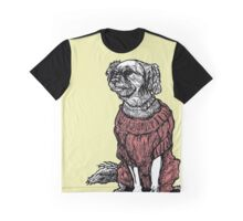 """Sassy"" (Small Dog in her Red Sweater) Graphic T-Shirt"