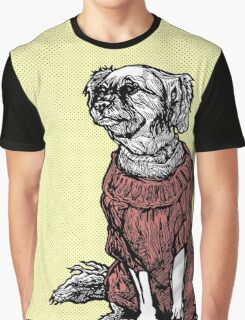"""""""Sassy"""" (Small Dog in her Red Sweater) Graphic T-Shirt"""