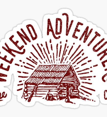 Weekend Adventurers Club Sticker