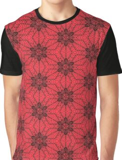 Red and Black geometric Abstract Pattern Graphic T-Shirt