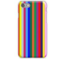 Stripes Rainbow Colors Navy Blue, Red, Yellow, Lime Green iPhone Case/Skin