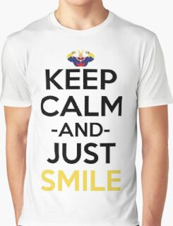 All Might Keep Calm And Just Smile Anime Manga Shirt Graphic T-Shirt