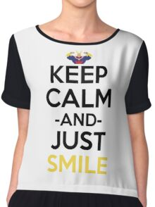 All Might Keep Calm And Just Smile Anime Manga Shirt Chiffon Top