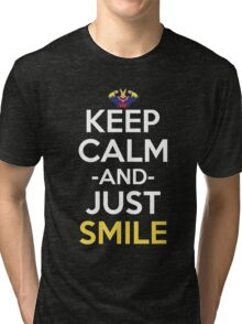 All Might Keep Calm And Just Smile Anime Manga Shirt Tri-blend T-Shirt