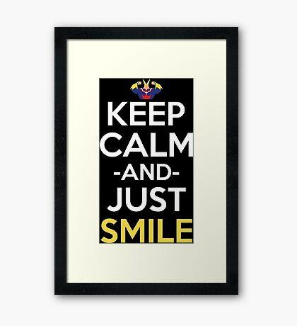 All Might Keep Calm And Just Smile Anime Manga Shirt Framed Print