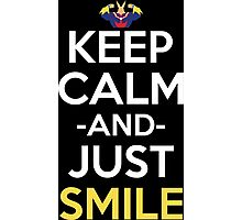 All Might Keep Calm And Just Smile Anime Manga Shirt Photographic Print
