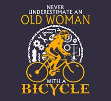 Never Underestimate an Old Woman with a Bicycle Women's Relaxed Fit T-Shirt