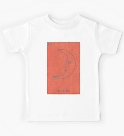 La Luna - Tarot Card in Red Kids Tee