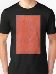 La Luna - Tarot Card in Red Unisex T-Shirt