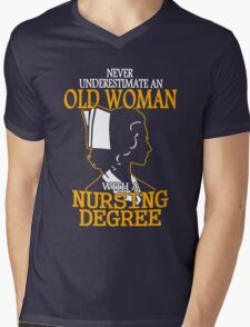 Never Underestimate an Old Woman with a Nursing Degree T-Shirt