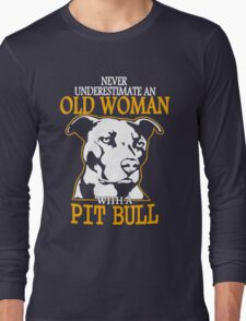 Never Underestimate an Old Woman with a PitBull T-Shirt