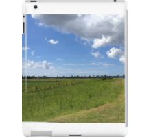 Rural scene with clouds iPad Case/Skin