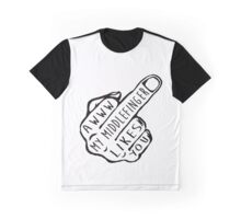 Middle Finger Graphic T-Shirt