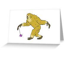 Yo-Yo Master Gibbon Greeting Card
