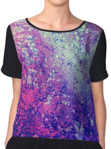Abstract Speckles Chiffon Top