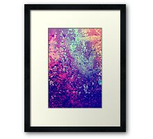 Abstract Speckles Framed Print