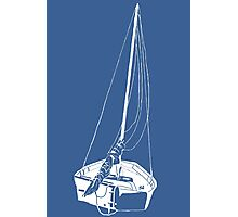 Sailboat (White) Photographic Print