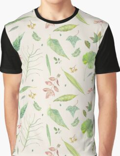 Leaf study watercolor Graphic T-Shirt