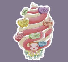 Doll faced dearies, Valentina valentines hearts ice cream swirl Kids Tee