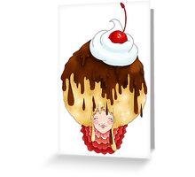 Doll faced dearies, Carmen caramel chocolate sundae Greeting Card