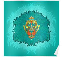 - Turquoise lion - Poster