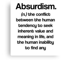 Dictionary Collection - Absurdism Canvas Print