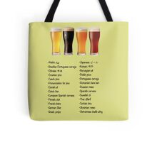 Beer in 26 Languages for Internationional Travelers Tote Bag