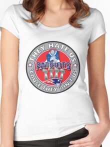 They Hate Us Cause They Ain't Us Women's Fitted Scoop T-Shirt