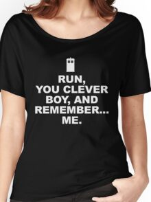 RUN YOU CLEVER BOY - Doctor Who Women's Relaxed Fit T-Shirt