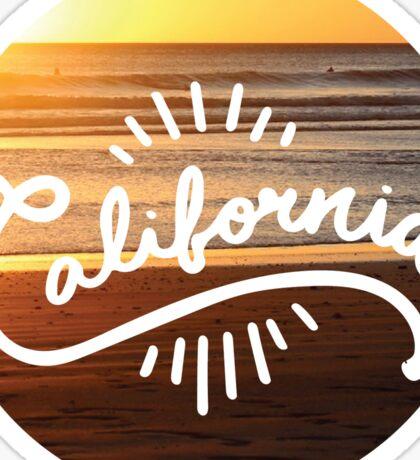 California Circle Sticker