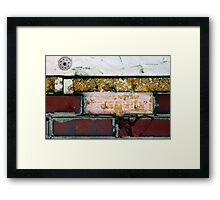 yellow red brick wall Framed Print