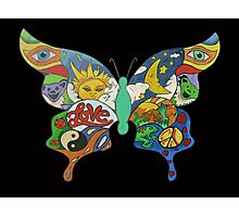 psychedelic butterfly Photographic Print