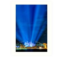 Lighting the Sails - Sydney Opera House Art Print