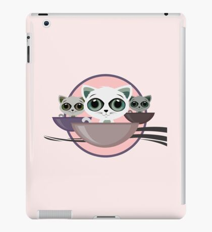 Kittens in a bowl iPad Case/Skin