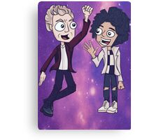 12th Doctor & Bill Canvas Print