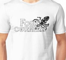 Four Corners logo - Black and White Unisex T-Shirt