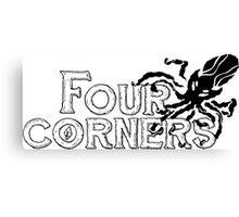 Four Corners logo - Black and White Canvas Print