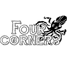 Four Corners logo - Black and White Photographic Print