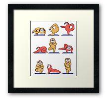 Sloth Yoga Framed Print