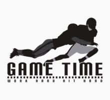 Game Time - Tackle (White) Kids Tee